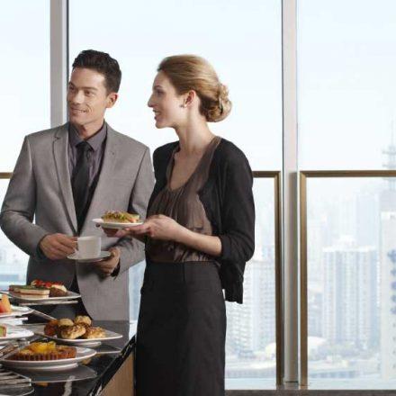 Various menu options for breakfast meetings or events
